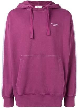 Acne Studios two-tone hooded sweatshirt