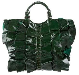 Be & D Patent Leather Kan Kan Satchel