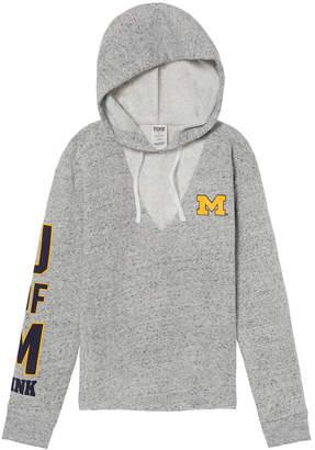 PINK University of Michigan Choker Neck Pullover Hoodie