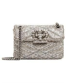 Kurt Geiger London Tweed Mini Mayfair Bag
