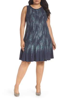Nic+Zoe Lightning Streaks Twirl Dress