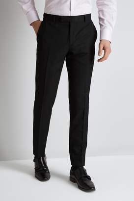 Moss Bros Tailored Fit Plain Black Trouser