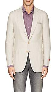 Isaia Men's Dustin Linen Two-Button Sportcoat - Beige, Tan