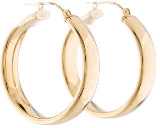 14K Hoop Earrings $145 thestylecure.com