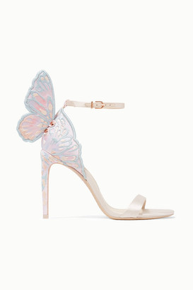 Sophia Webster Chiara Embroidered Satin Sandals