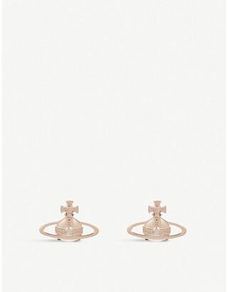 Vivienne Westwood Suzie orb earrings, Pink gold
