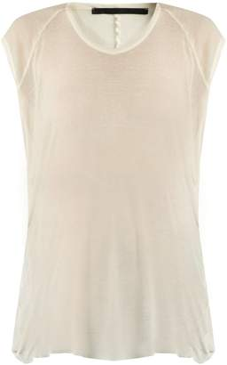 HAIDER ACKERMANN Arsenic burnout-jersey T-shirt $234 thestylecure.com