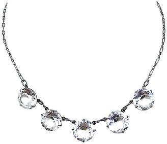 One Kings Lane Vintage 1920s Faceted Crystal Necklace - Little Treasures