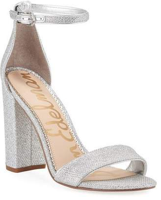Sam Edelman Yaro High-Heel Glittered Mesh Sandals