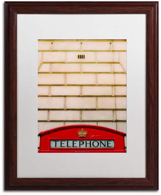 "Ariane Moshayedi 'Telephone Booth' Matted Framed Art - 16"" x 20"""