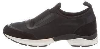 Tod's Satin Slip-On Sneakers