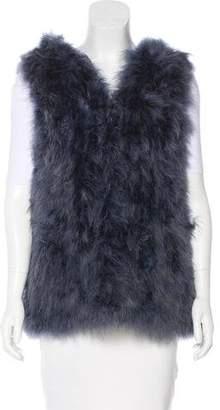 Jocelyn Feather Hooded Vest