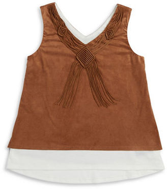 Ally B Girls 7-16 Sueded Sleeveless Top $34 thestylecure.com