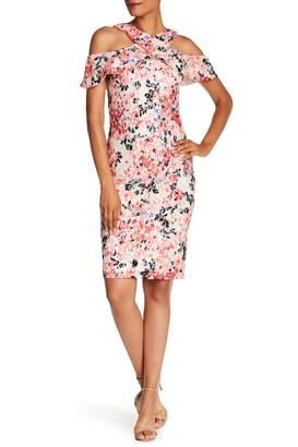 Rachel Roy Printed Lace Midi Dress