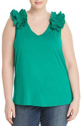Junarose Plus Elavia Ruffle Shoulder Top