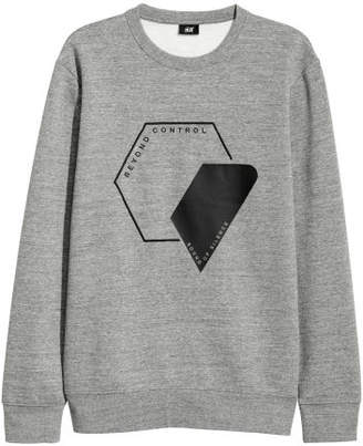 H&M Sweatshirt with Motif - Gray