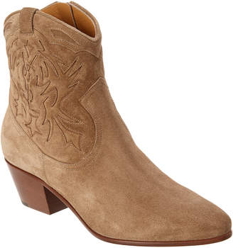 Saint Laurent Rock 40 Suede Cowboy Boot