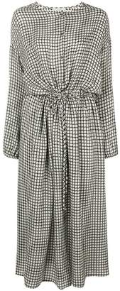Dusan houndstooth flared midi dress