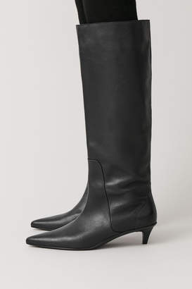 Cos HIGH LEATHER KITTEN-HEEL BOOTS