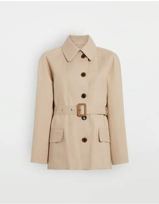 Maison Margiela Short Beige Trench Crafted By Mackintosh