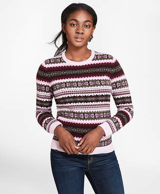 Brooks Brothers Stretch-Merino Wool Fair Isle Sweater