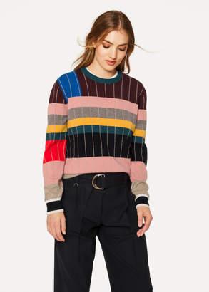 Paul Smith Anni Albers x Women's Geometric Stripe Cashmere Sweater