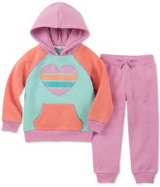 Kids Headquarters Little Girls 2-Pc. Colorblocked Fleece Hoodie & Jogger Pants Set
