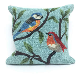"""Liora Manné Frontporch Birds On Branches Indoor, Outdoor Pillow - 18"""" Square"""
