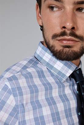 Country Road Slim Prince Of Wales Travel Shirt