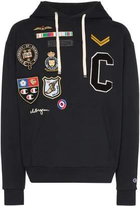 Champion X clothsurgeon logo patch hoodie