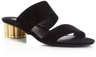 Salvatore Ferragamo Women's Belluno Floral Heel Slide Sandals