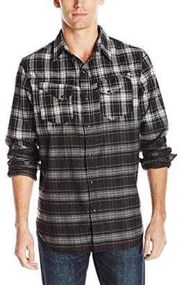 Cult of Individuality Men's Clint Plaid Button Down Shirt