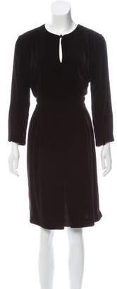 Max Mara Long Sleeve Velvet Dress