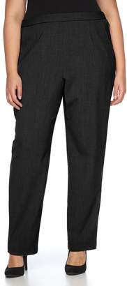 Briggs Plus Size Pull-On Straight-Leg Pants