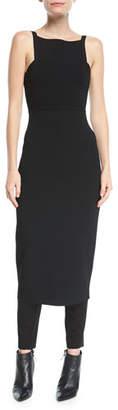 Narciso Rodriguez Knit Tank-Top Low-Back Sheath Dress