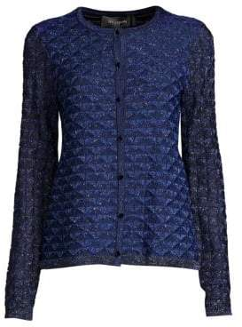 St. John Diamond Lace Knit Cardigan