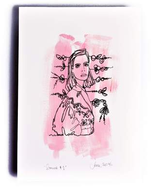 The Completist Simone Limited Edition Hand Finished Screen Print