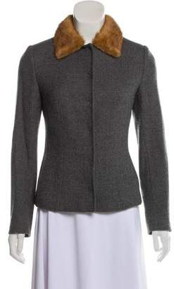 Dolce & Gabbana Fur-Accented Wool Jacket