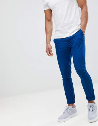 Asos DESIGN super skinny chinos in royal blue