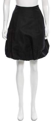 Ralph Lauren Black Label Gathered Silk Skirt