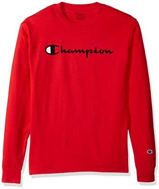 Champion Men's Classic Jersey Long Sleeve Graphic T-Shirt