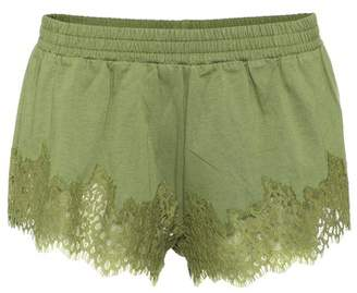Rihanna Fenty by Lace-trimmed cotton shorts