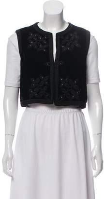 Oscar de la Renta Vintage Velvet Vest