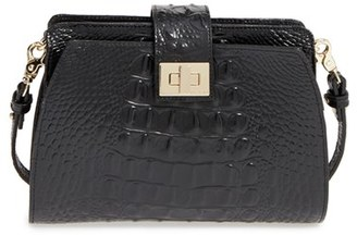 Brahmin 'Alena' Croc Embossed Leather Crossbody Bag $225 thestylecure.com