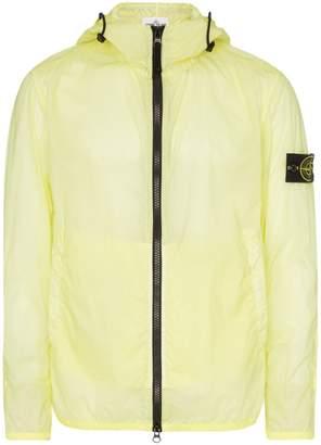Stone Island logo patch hooded jacket