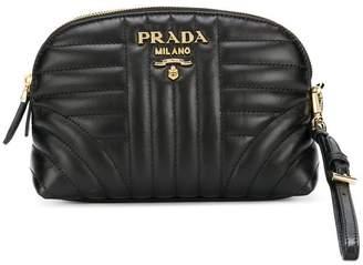 Prada quilted zip around make-up bag