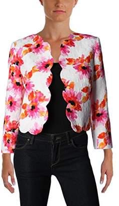 Kasper Women's Printed Jacquard Scalloped Jacket