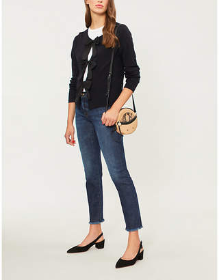 Claudie Pierlot Bow-fastened wool cardigan