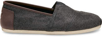 Toms Charcoal Herringbone Men's Classics