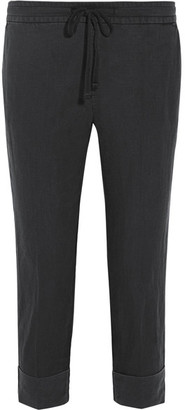 James Perse - Linen Tapered Pants - Anthracite $195 thestylecure.com